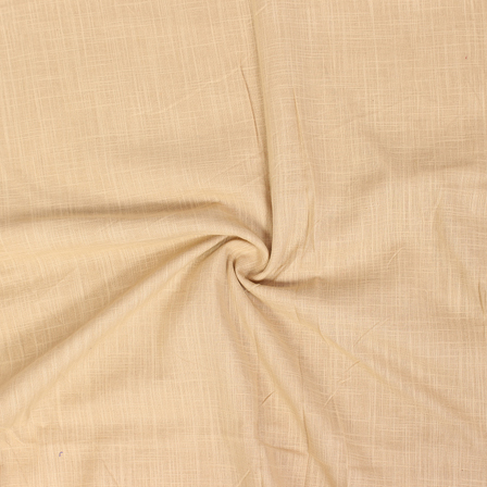 Cream Cotton Slub Dyed Handloom Fabric-40075