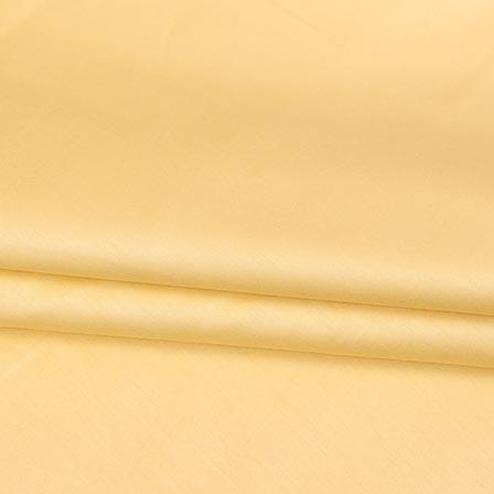 Cream Plain Cotton Silk Fabric-16443