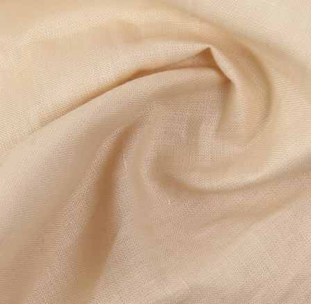 Linen Shirt (1.6 Meter) Fabric- Cream Plain-90034