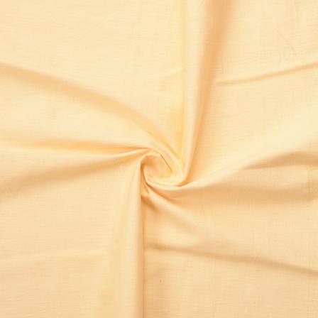 Cream Plain Slub Cotton Handloom Fabric-40204
