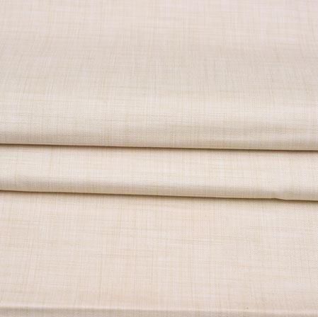Men Unstitched Trouser (1.2 MTR)-Cream Plain Cotton Wool Fabric-42162