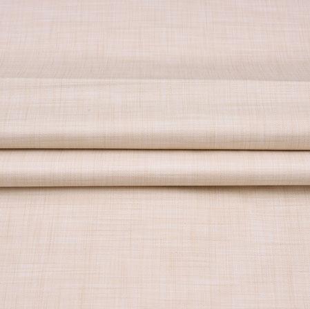 Men Unstitched Trouser (1.2 MTR)-Cream Plain Cotton Wool Fabric-42172