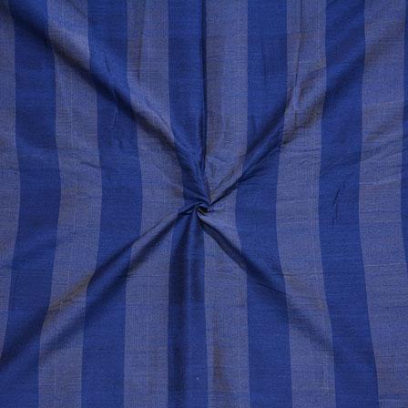 Cyan Blue Stripes Print South Cotton Fabric-15236