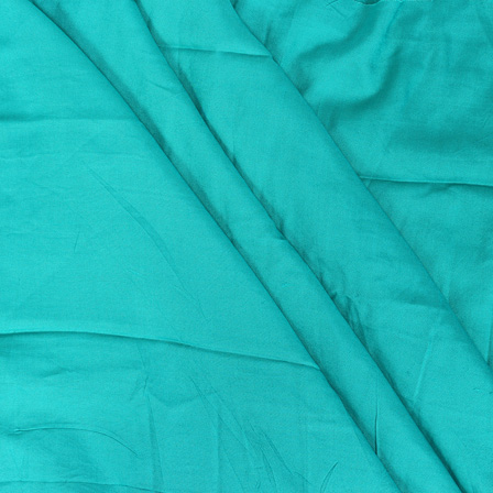 Cyan Pain Handloom Cotton Rayon Fabric-40102