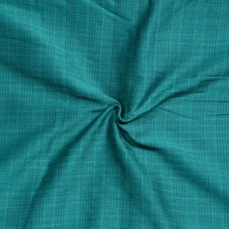 Cyan Stripes Print South Cotton Fabric-15230