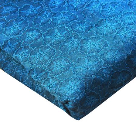 Cyan and Light Black Shade Floral Design Brocade Silk Fabric-8227