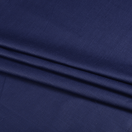 Khadi Shirt (2.25 Meter) Fabric-Dark Blue Handloom Cotton -140369