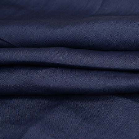 Linen Shirt (1.6 Meter) Fabric- Dark Blue Plain-90013