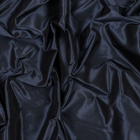 Dark Blue Taffeta Silk Fabric-6512