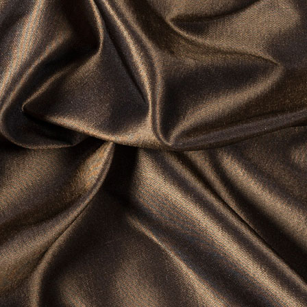 Dark Golden Silk Taffeta Fabric-6549