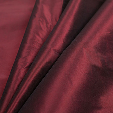 Dark Maroon Silk Taffeta Fabric--6545