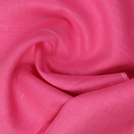 Linen Shirt (1.6 Meter) Fabric- Dark Pink Plain Indian-90033