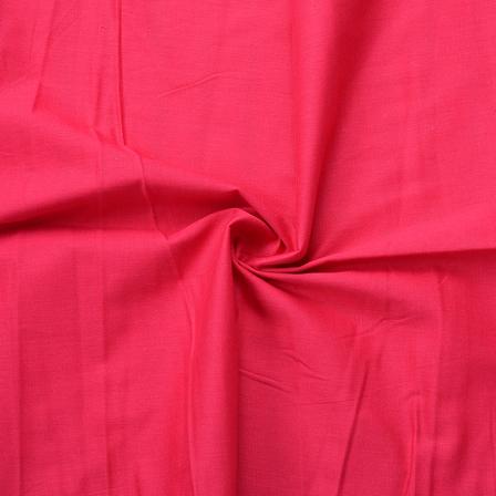 Dark Pink Plain Slub Cotton Handloom Fabric-40218
