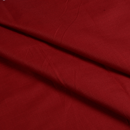Dark Red Cotton Linen Shirt Fabric-90053