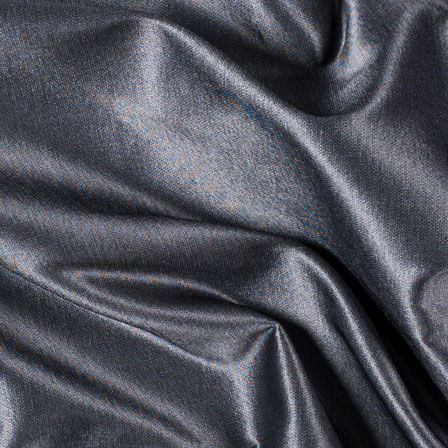 Dark Silver Silk Taffeta Fabric-6541