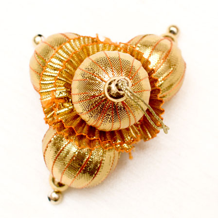 Decorative Golden Latkans with Gold Beaded-0048