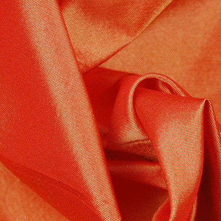 Deep Orange Silk Taffeta Fabric-6523