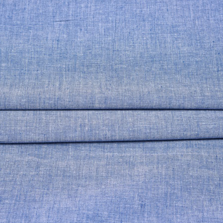Denim Plain Handloom Cotton Fabric-42556