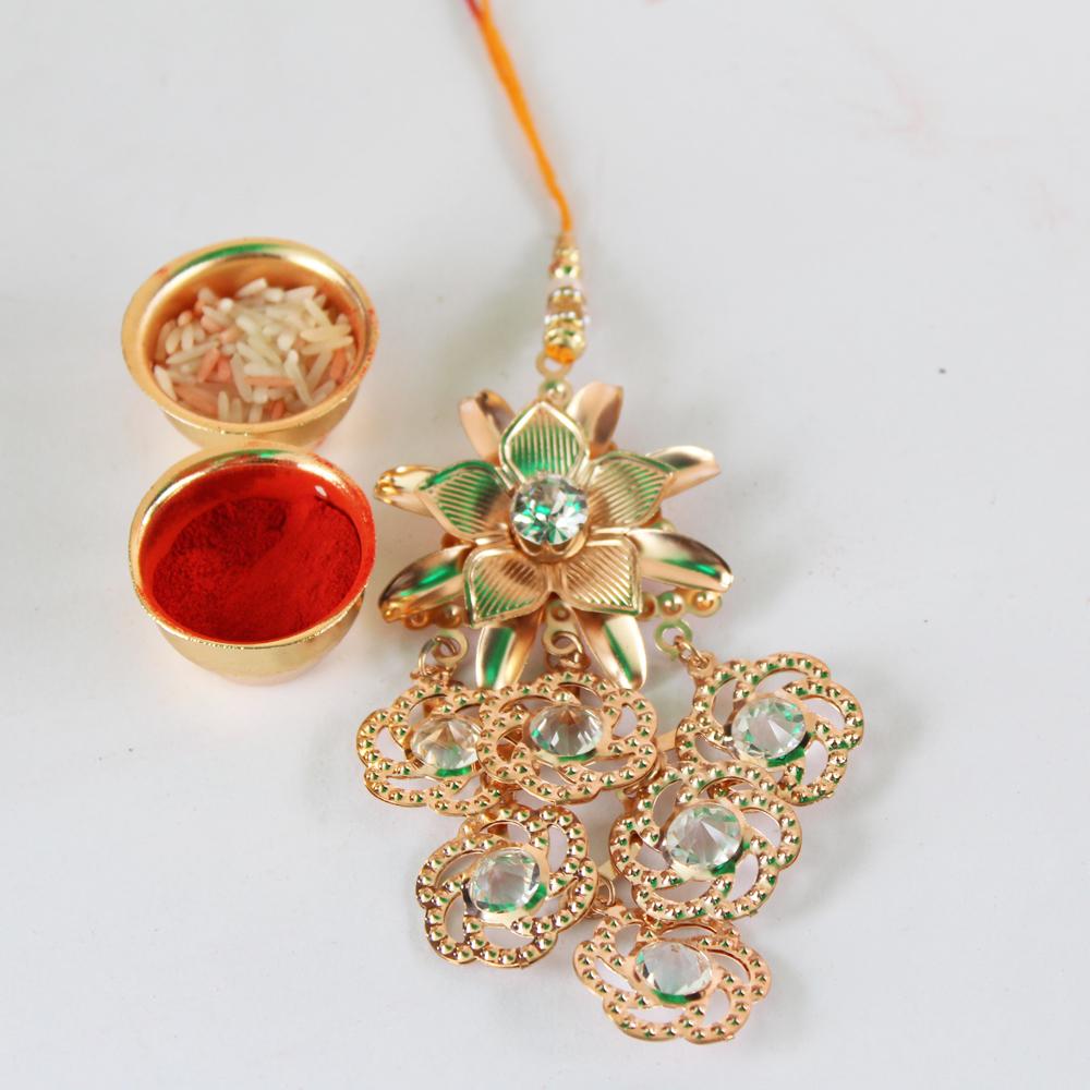 Lumba Rakhi Designer Handmade-GFT-ANL-LUM-007