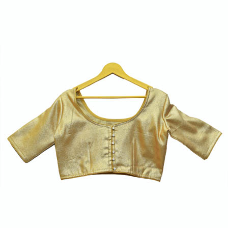 Golden Silk Brocade Blouse-30135