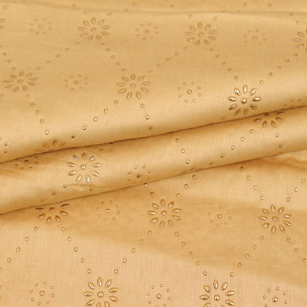 Golden Polka Jam Cotton Fabric-15150