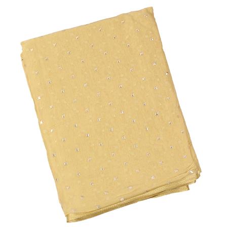 Golden Chiffon Fabric-29073