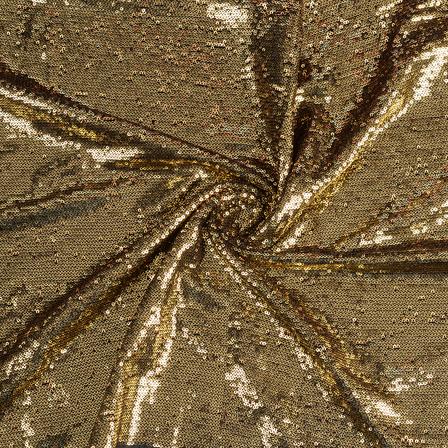 Golden Shiny Sequin Fabric-60639