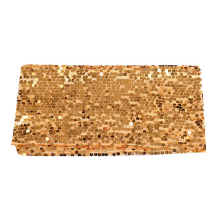 Golden Shiny Sequin Fabric-60643