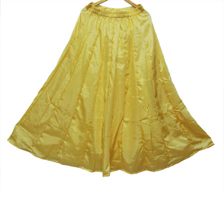 Golden Umbrella Design Shantoon Skirt-23025