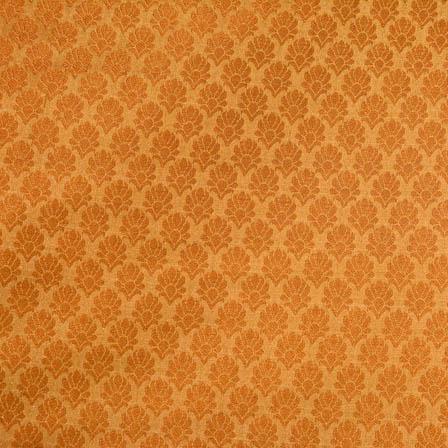 Golden flower shape brocade silk fabric-4674
