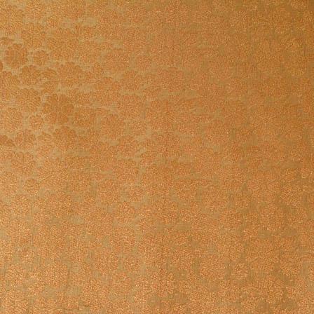 Golden large flower shape brocade silk fabric-4691
