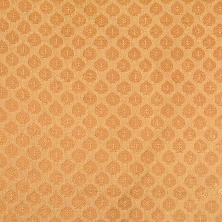 Golden small flower shape brocade fabric-4652