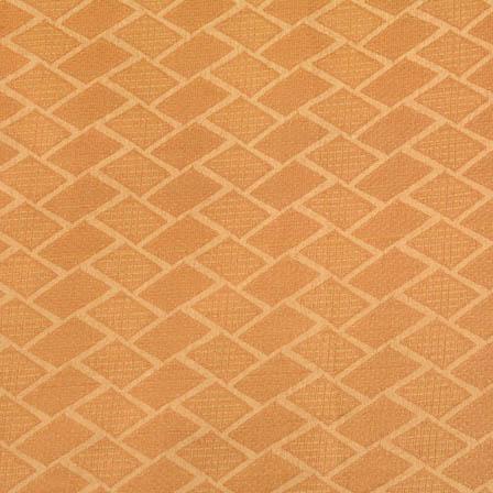 Golden square shape brocade silk fabric-4667