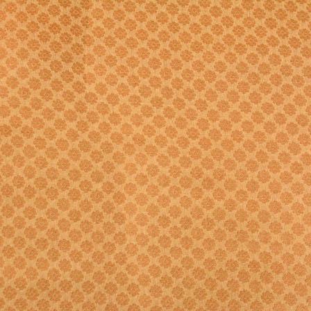 Golden tiny flower shape brocade silk fabric-4666