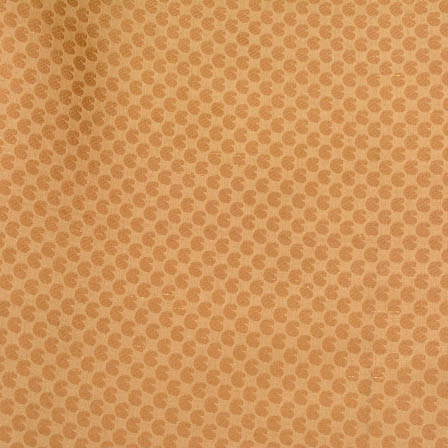 Golden tiny paisley shape brocade silk fabric-4668