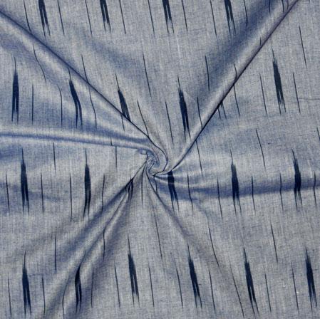Gray Black Ikat Cotton Fabric-11152