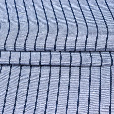 Gray Black Stripe Handloom Cotton Fabric-42459
