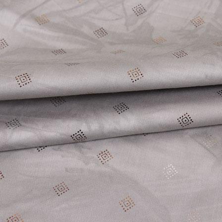 Gray Golden Polka Jam Cotton Fabric-15155