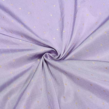 Gray Golden Polka Zari Taffeta Silk Fabric-12345