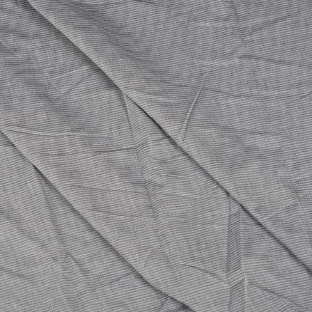 Gray Lining Design Cotton Handloom Khadi Fabric-40262