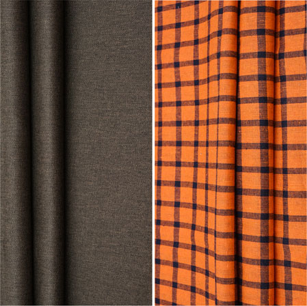 Combo Set Shirt and Trouser-Gray Orange and Blue-42085