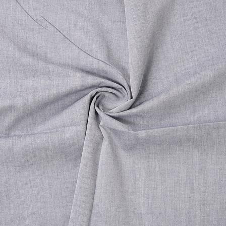 Gray Plain Cotton Handloom Fabric-40194
