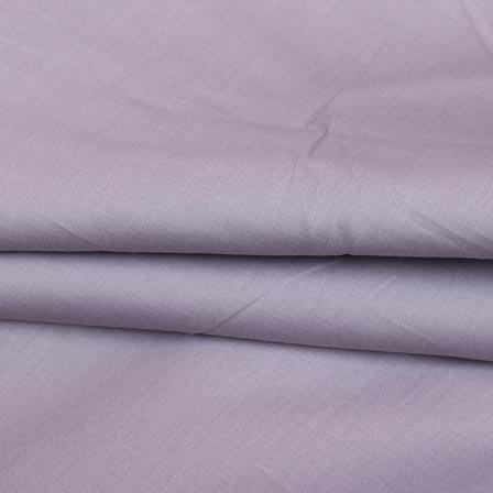 Gray Plain Cotton Silk Fabric-16429