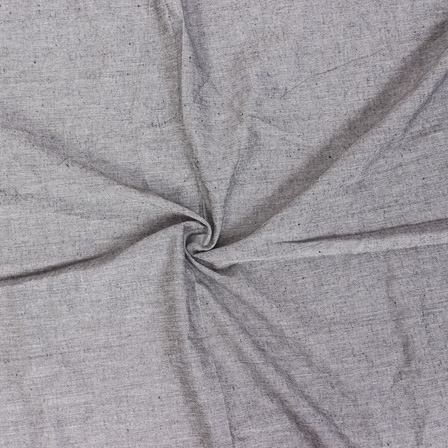 Gray Plain Handloom Cotton Samray Khadi Fabric-40087