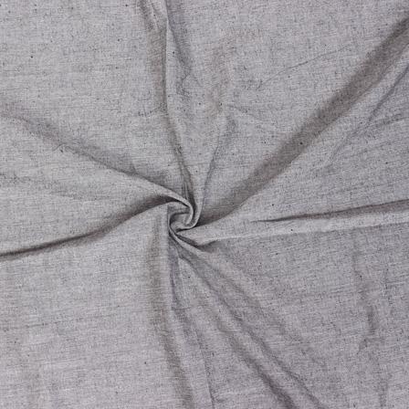 Gray Plain Handloom Cotton Samray Fabric-40087
