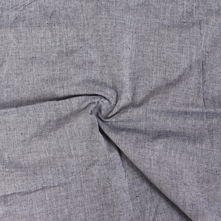 Gray Plain Handloom Cotton Samray Fabric-40091