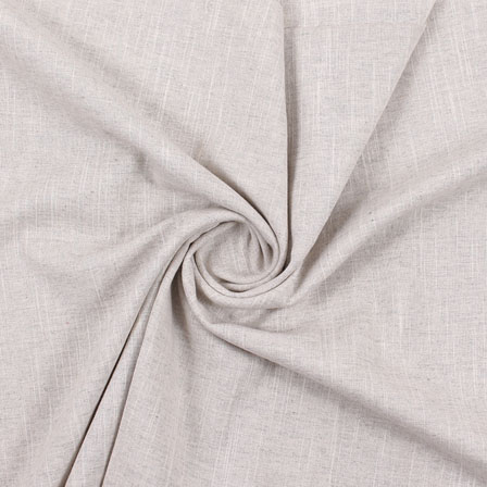 Gray Plain Handloom Khadi Cotton Fabric-40407