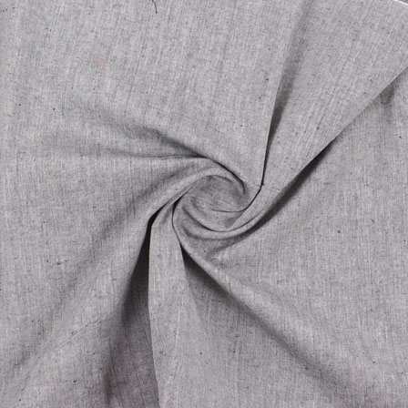 Gray Plain Handloom Khadi Cotton Fabric-40492