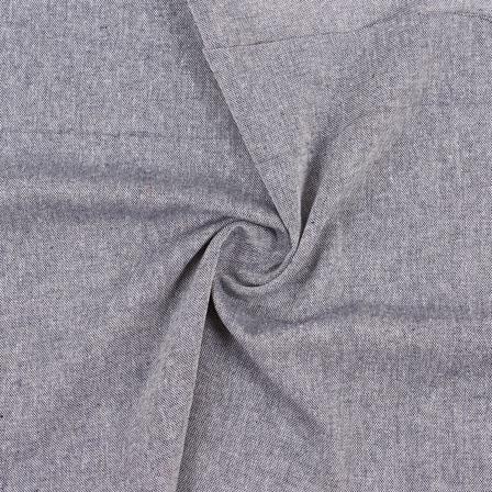 Gray Plain Handloom Cotton Fabric-40494