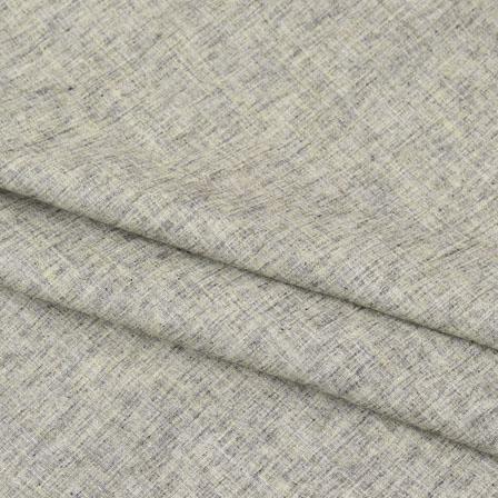 Khadi Shirt (2.25 Meter) Fabric-Gray Plain Handloom-140609